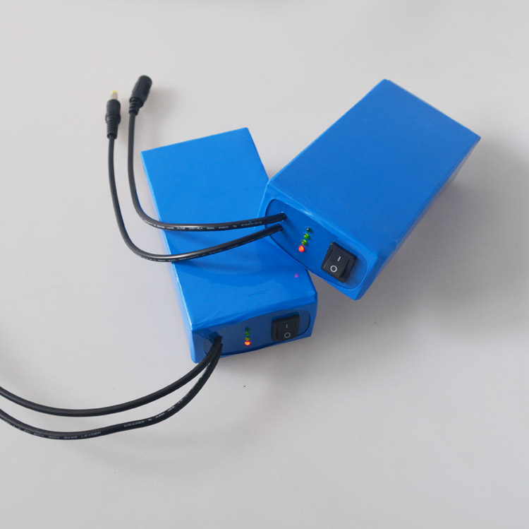 12V rechargeable  lithium polymer battery pack 6800mah for cctv camera