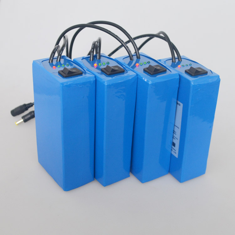 12V rechargeable  lithium polymer battery pack 10000mah with Multi-led indicator
